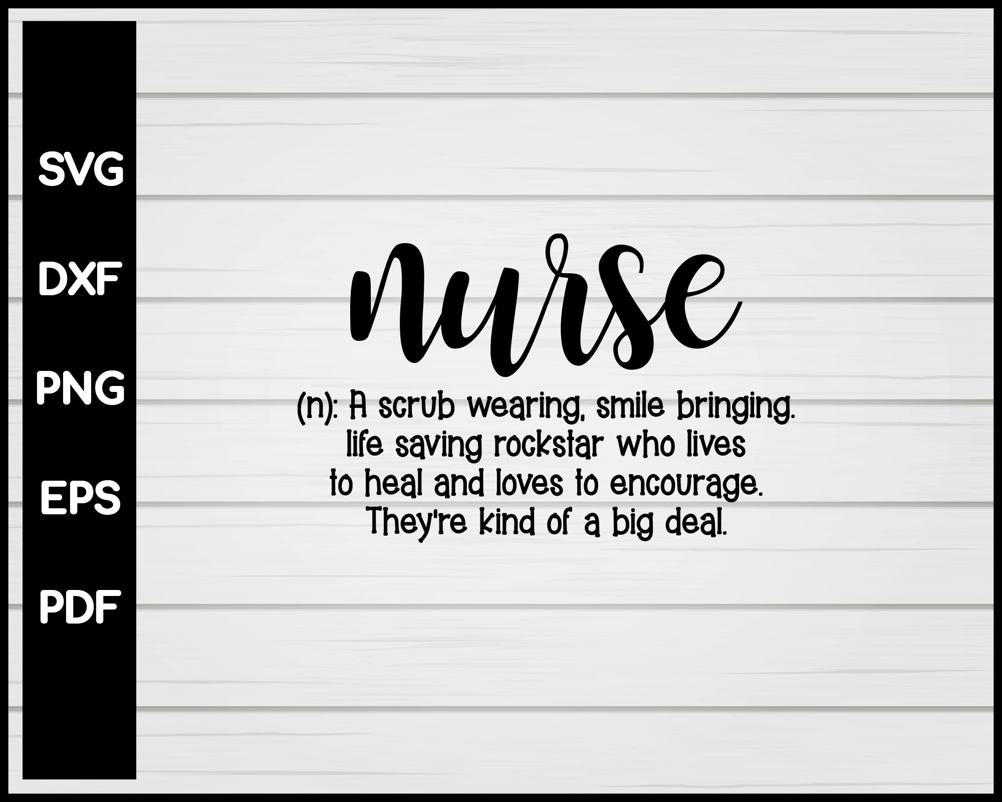 Nurse Definition svg Cut File For Cricut Silhouette eps png dxf Printable Files
