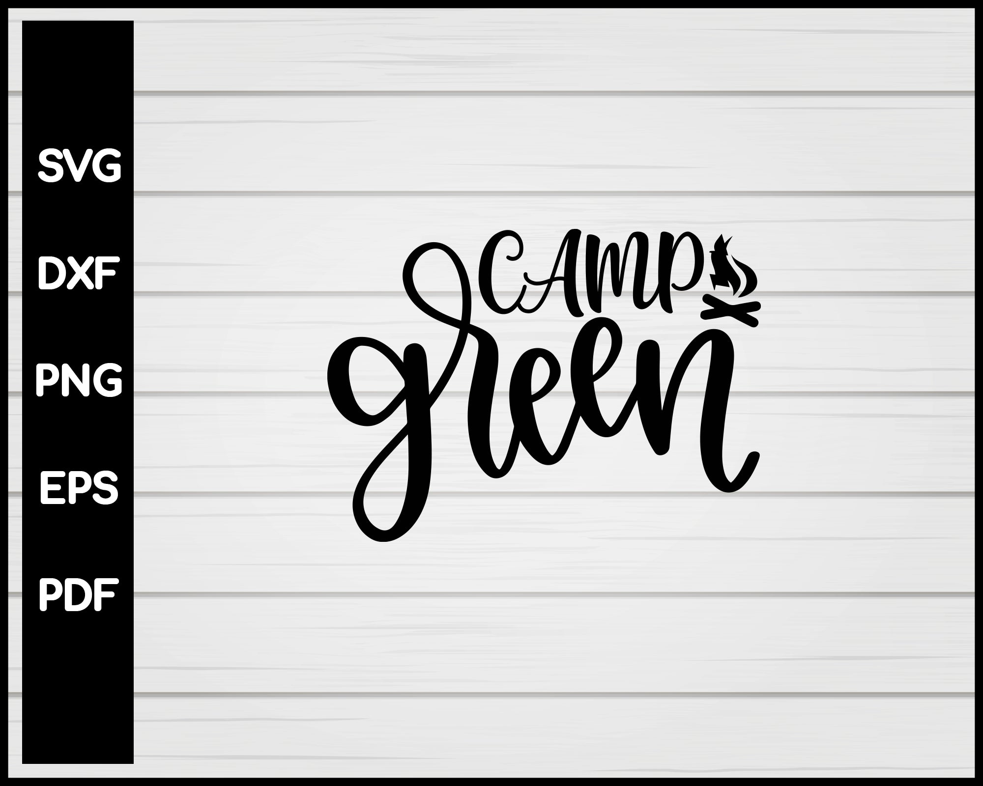 Camp Queen svg Cut File For Cricut Silhouette eps png dxf Printable Files