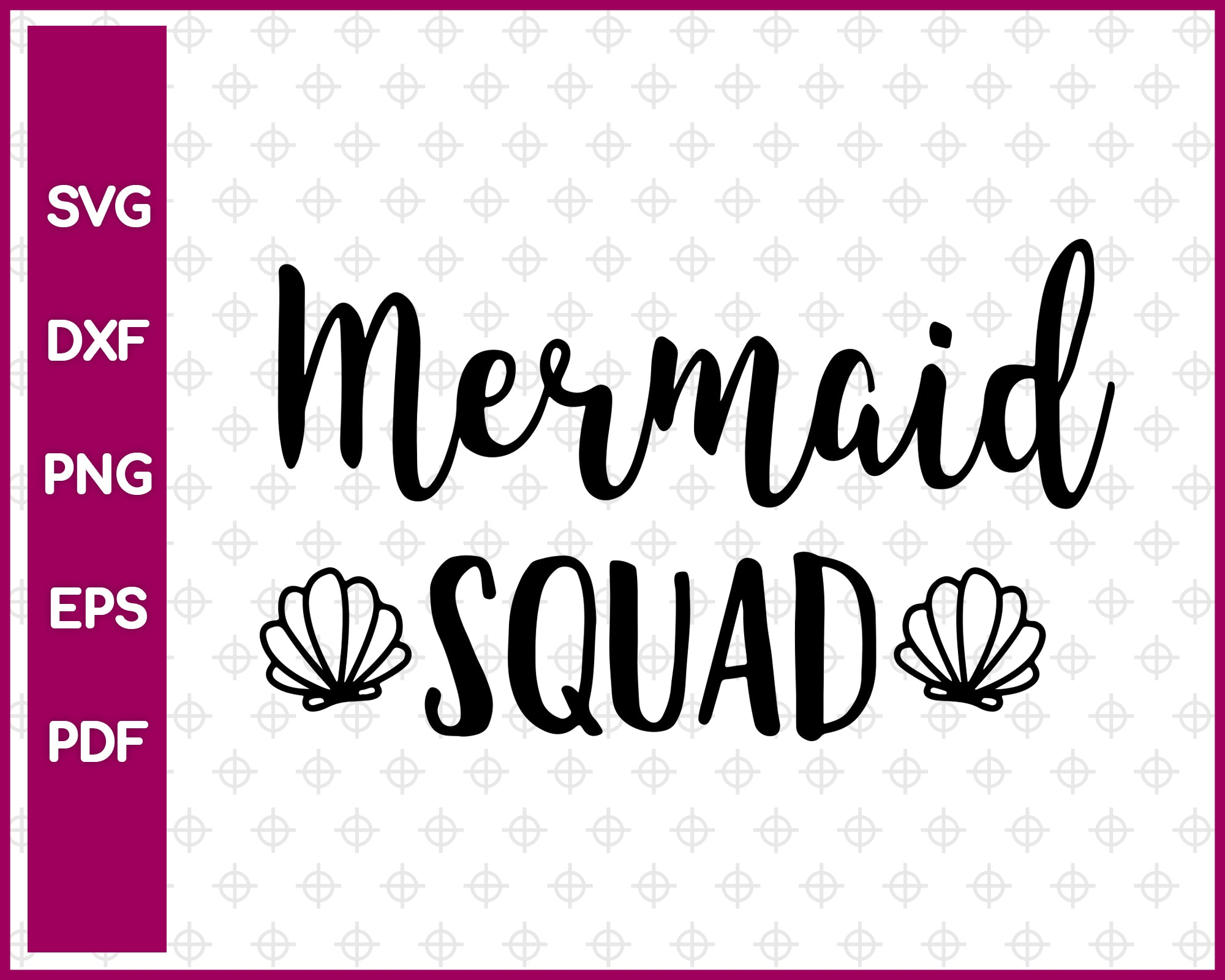 Mermaid Squad SVG, Summer SVG, Png, Eps, Dxf, Pdf Cricut, Cut Files, Silhouette Files, Download, Print
