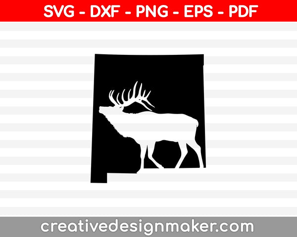 Deer Hunting SVG PNG Cutting Printable Files