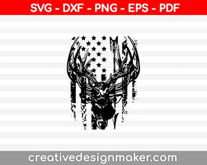 Distressed American Flag SVG PNG Cutting Printable Files