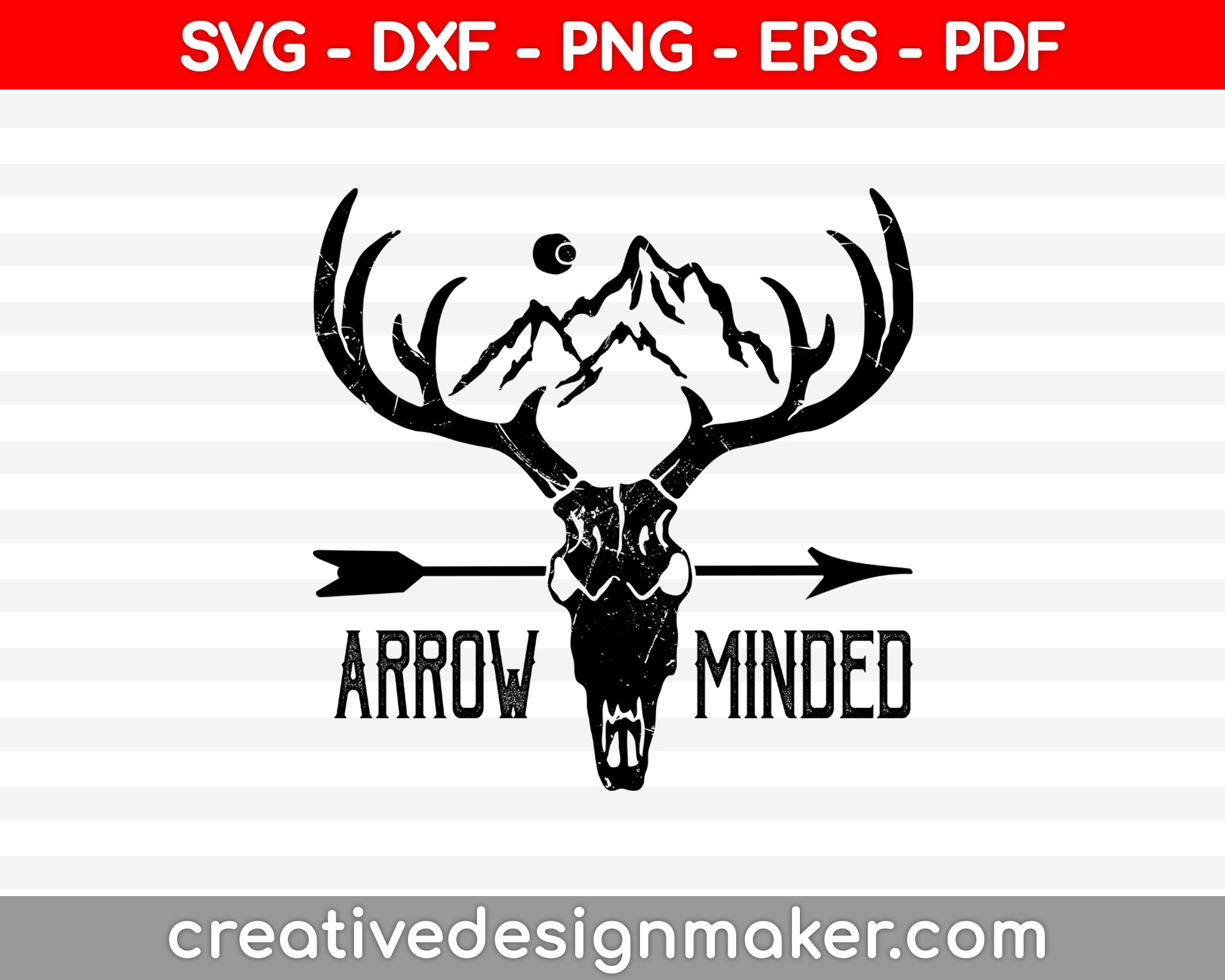 Arrow Minded SVG PNG Cutting Printable Files