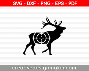 Deer Hunting Target SVG PNG Cutting Printable Files
