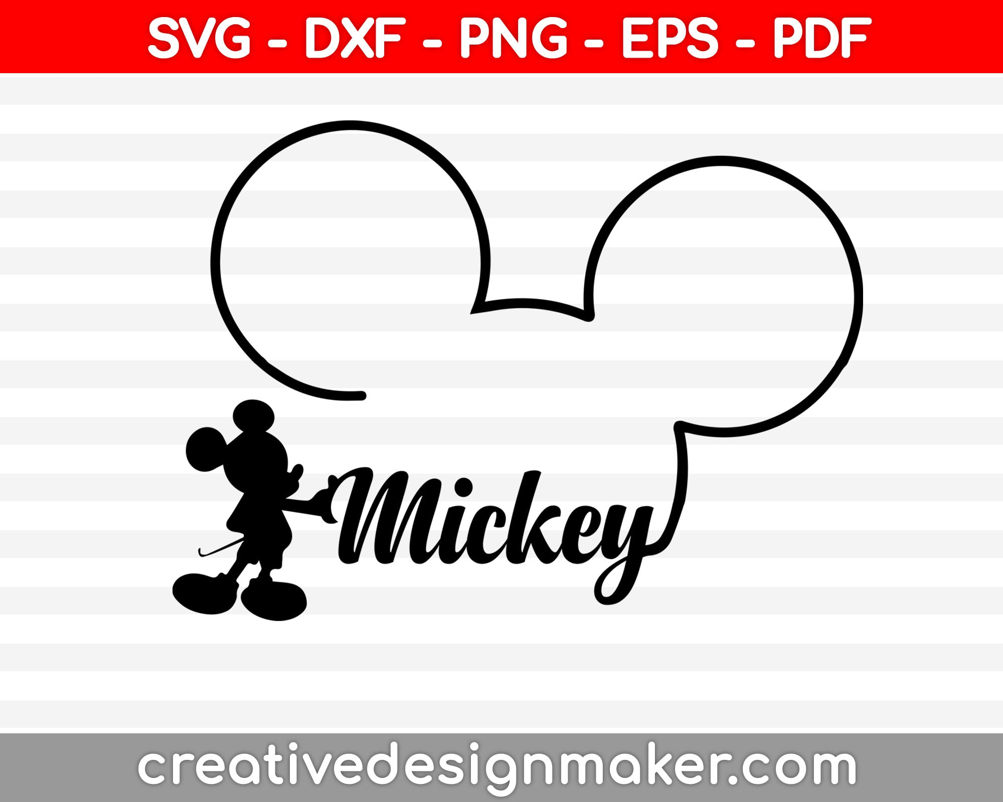 Mickey svg dxf png eps pdf File For Cameo And Printable Files
