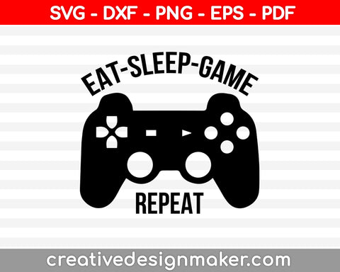 Eat sleep Mine repeat svg minecraft t-shirt design silhouette, png, cut file, vinyl, EPS, cricut/vector, clipart, stencil, digital download cameo, video game Svg Dxf Png Eps Pdf Printable Files