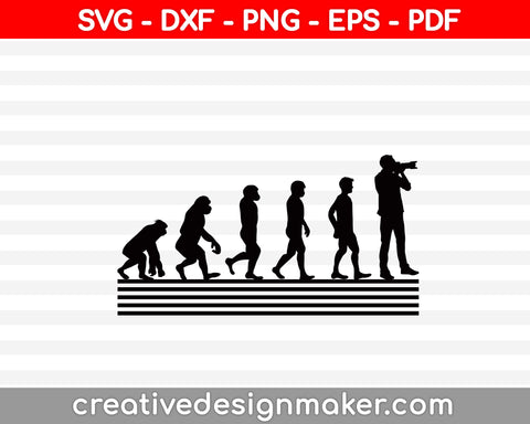 Photography Svg, Retro Style Photographer Svg, Photography Svg Dxf Png Eps Pdf Printable Files