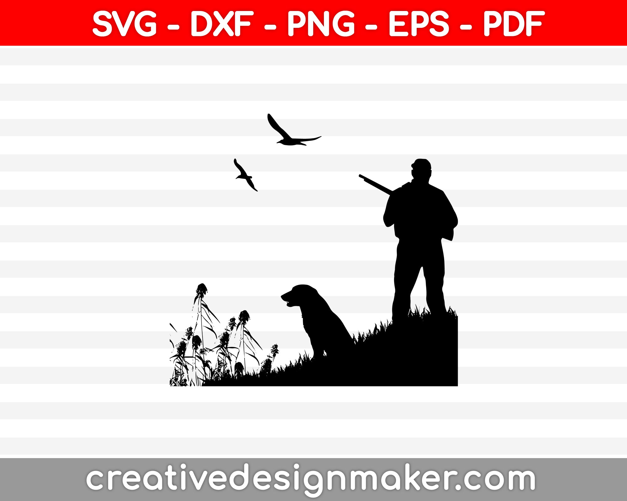 Duck Hunting SVG PNG Cutting Printable Files