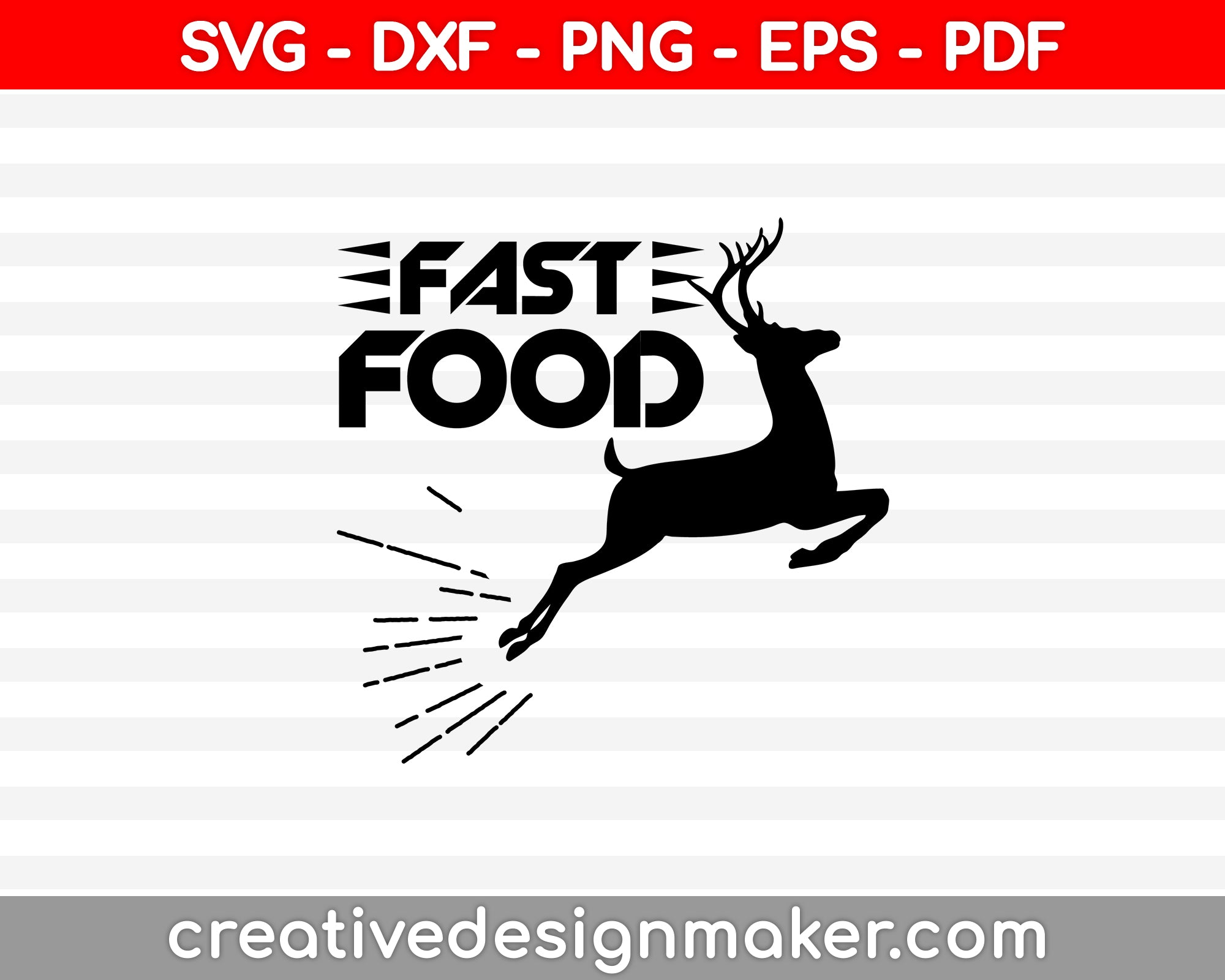 Fast Food SVG PNG Cutting Printable Files