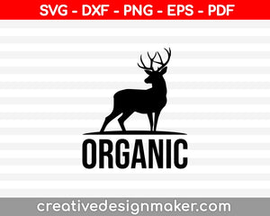 Organic SVG PNG Cutting Printable Files