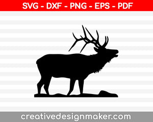 Deer SVG PNG Cutting Printable Files