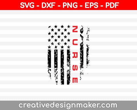Nurse Svg Dxf Png Eps Pdf Printable Files