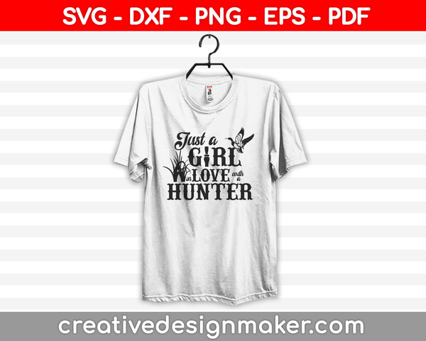 In Love With A Duck Hunter SVG PNG Cutting Printable Files