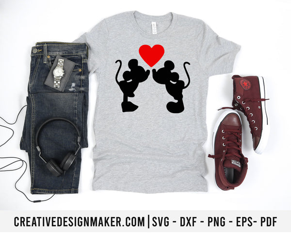 Mickey Love svg dxf png eps pdf File For Cameo And Printable Files