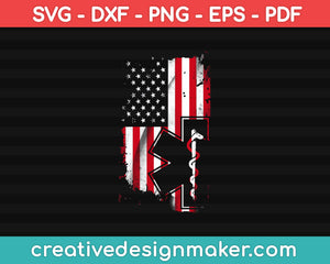 American Nurse Svg Dxf Png Eps Pdf Printable Files