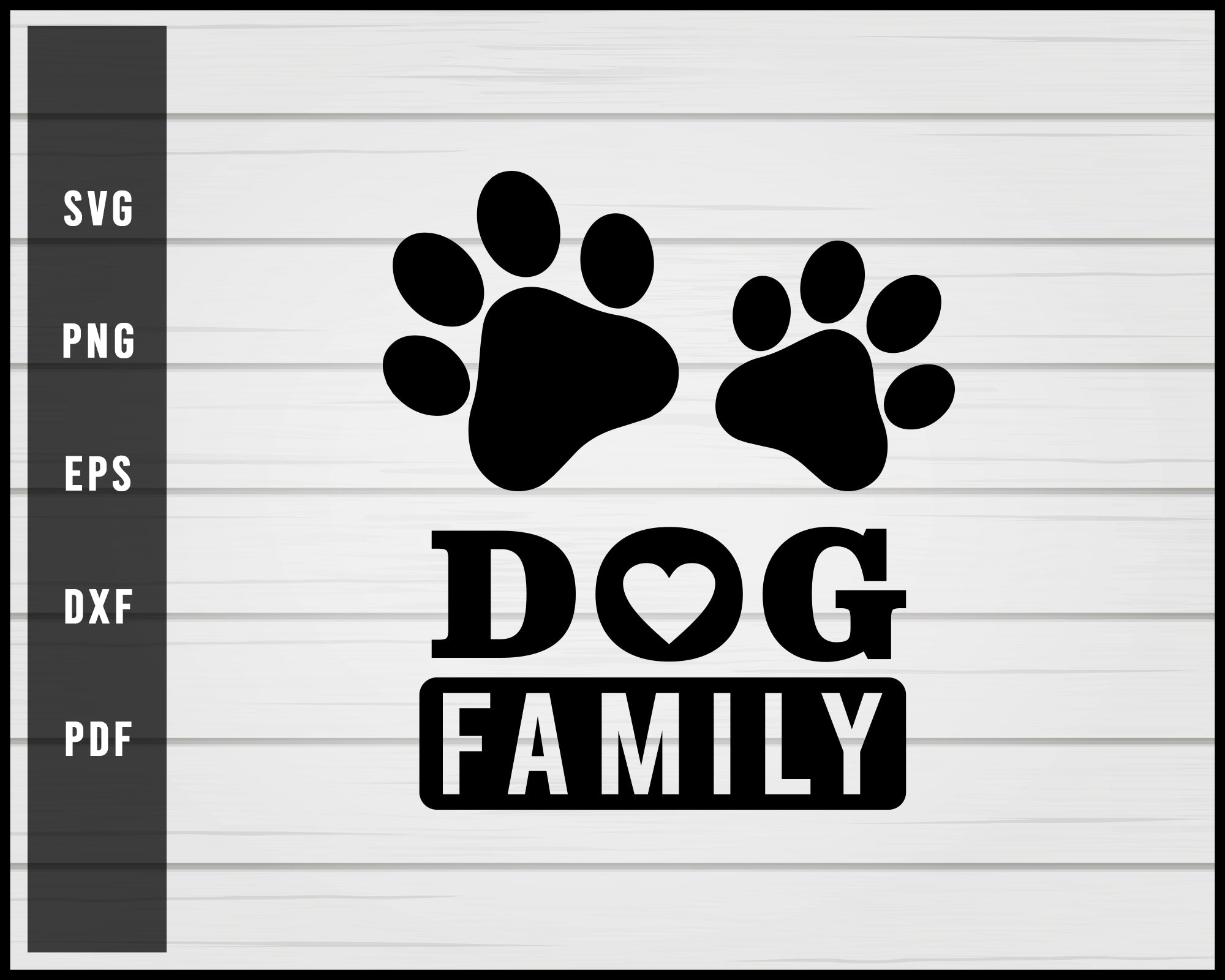Dog Family svg png Silhouette Designs For Cricut And Printable Files