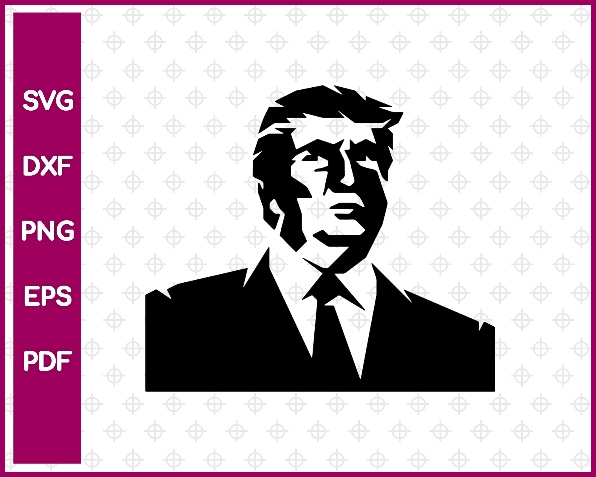 Donald Trump svg file, President United States svg dxf png eps pdf, vector decal for cricut clipart, silhouette vinyl sticker monogram