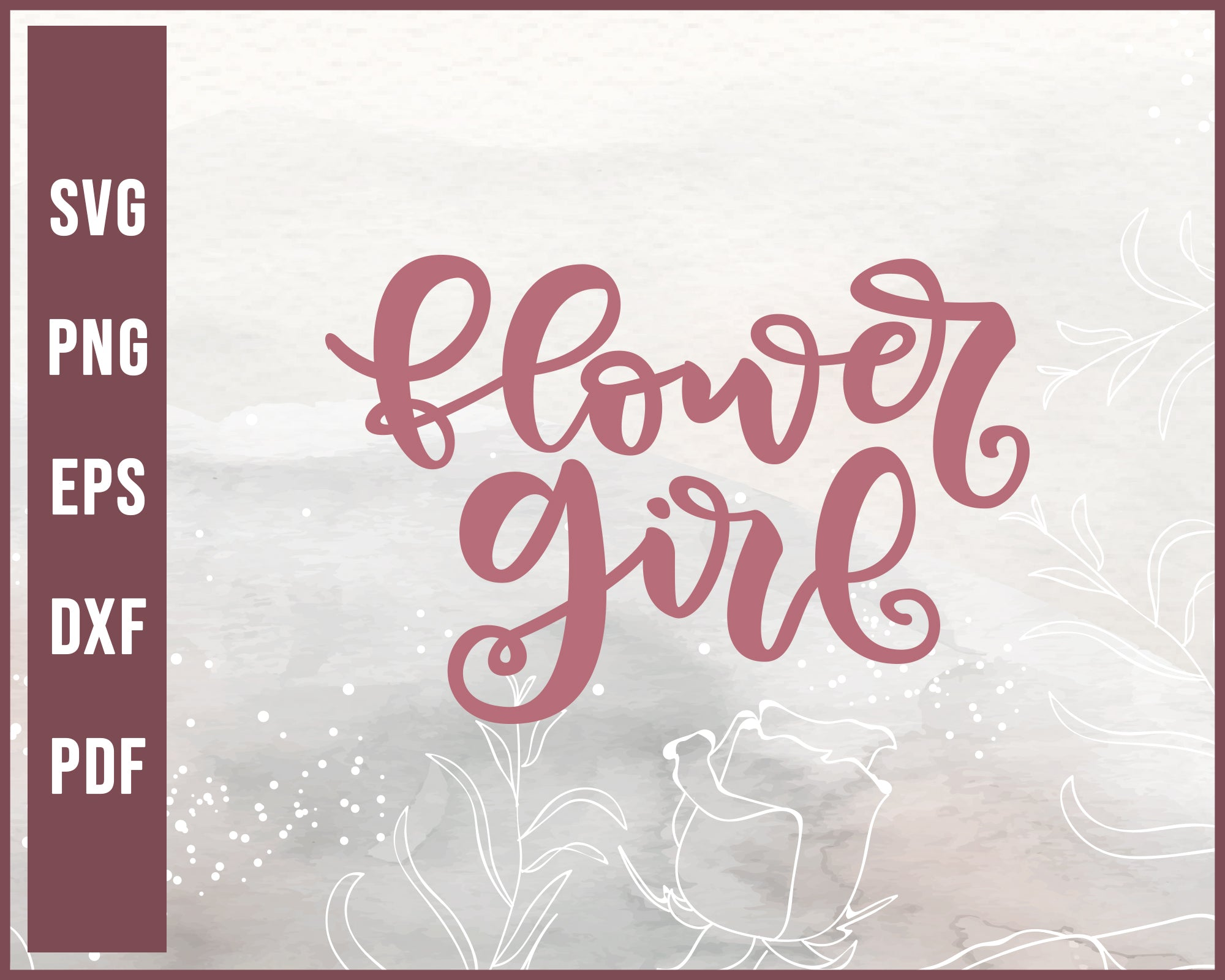Flower Girl Wedding svg Designs For Cricut Silhouette And eps png Printable Files