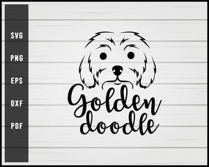Golden Doodle Dog svg png eps Silhouette Designs For Cricut And Printable Files