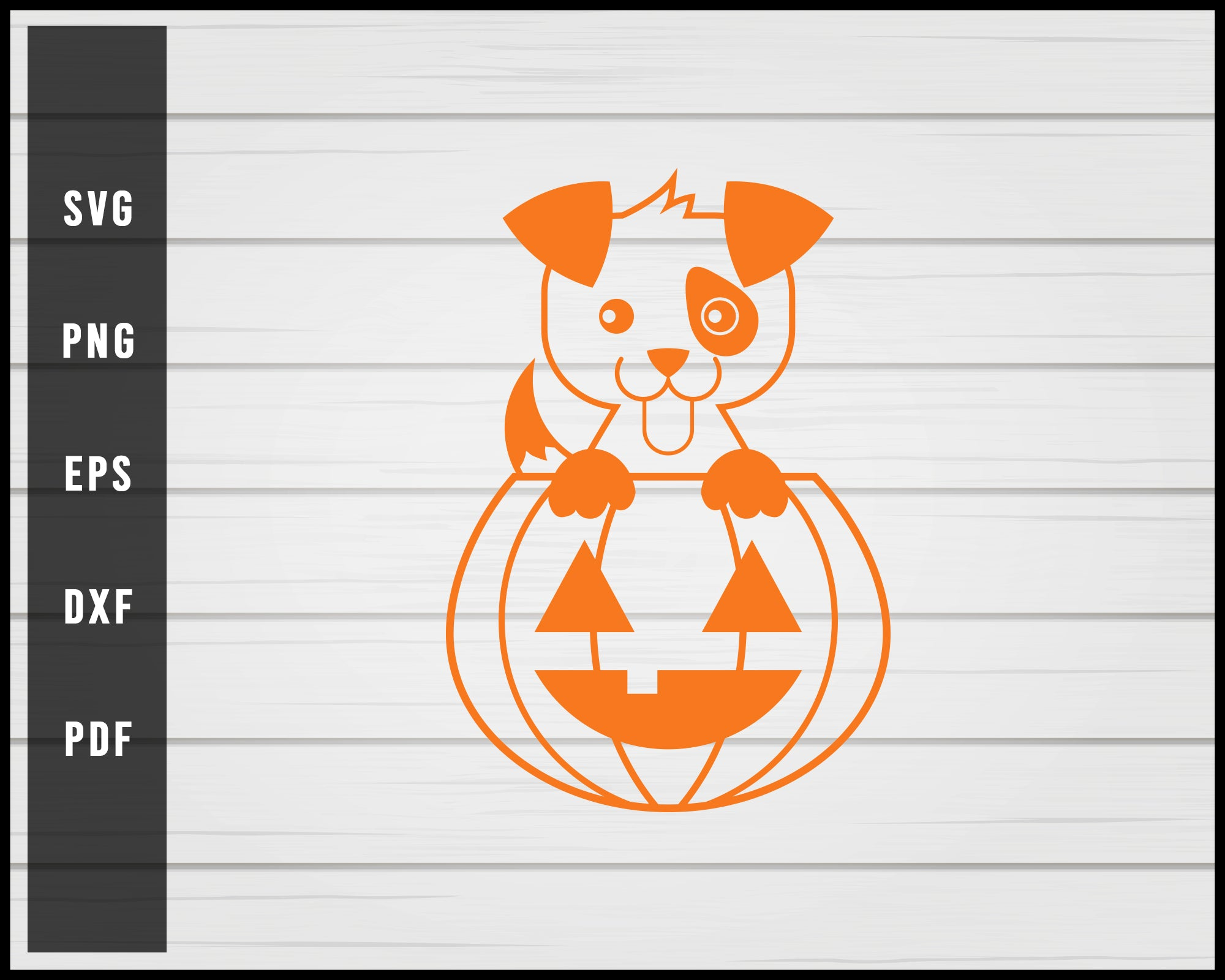 Halloween Pumpkin Dog svg png eps Silhouette Designs For Cricut And Printable Files