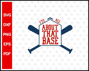 It's Baseball Y'All Baseball Cut File For Cricut svg, dxf, png, eps, pdf Silhouette Printable Files