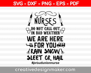 Nurse Do Not Call Out svg Nurse Svg Dxf Png Eps Pdf Printable Files