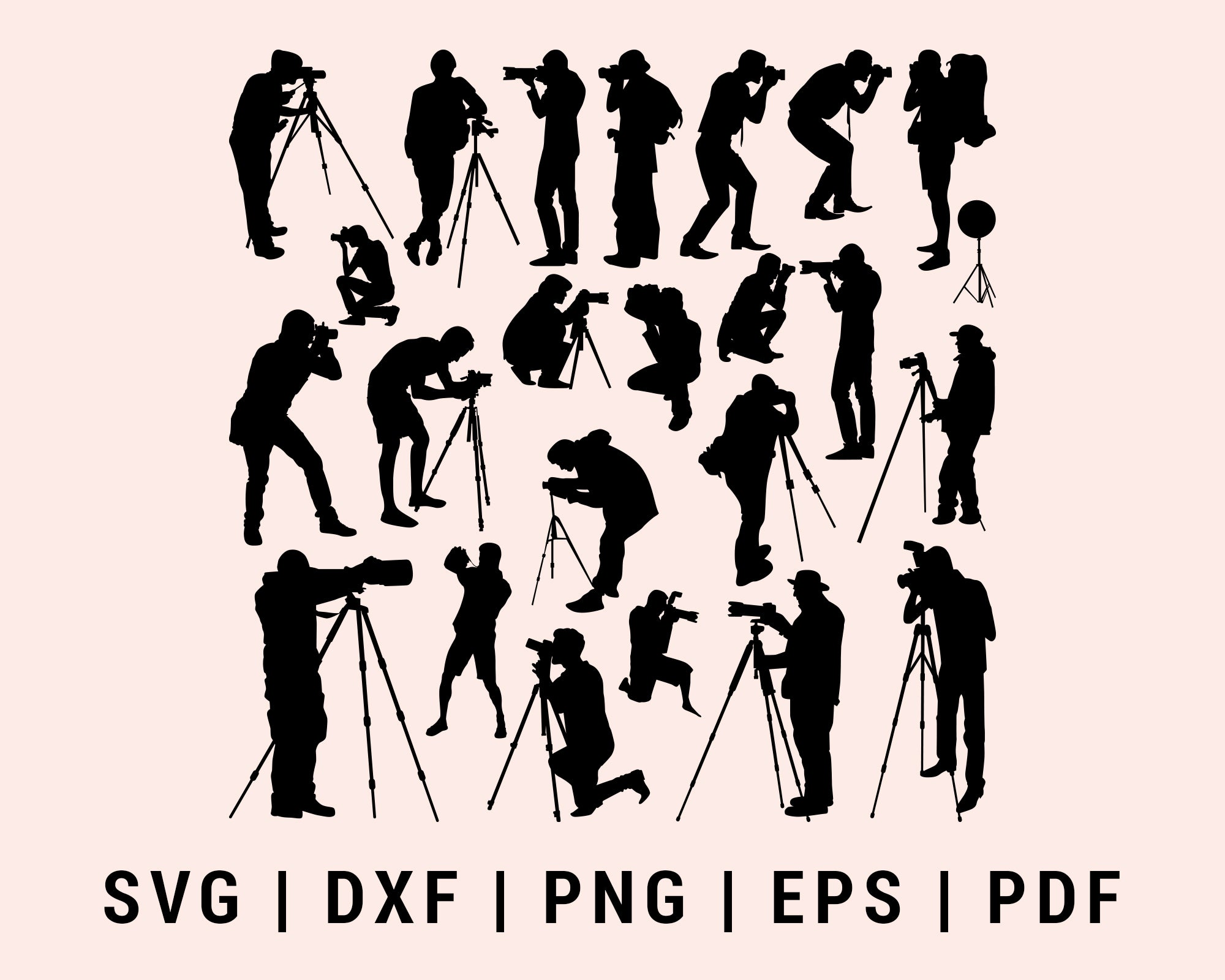 Photographer Cut File For Cricut Bundle SVG, DXF, PNG, EPS, PDF Silhouette Printable Files