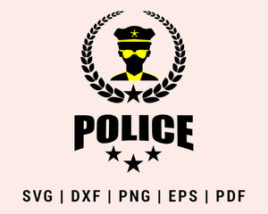 police officer Cut File For Cricut svg, dxf, png, eps, pdf Silhouette Printable Files