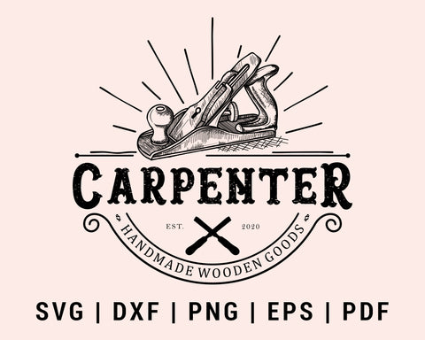 Wood Shaving Tool Carpenter Cut File For Cricut svg, dxf, png, eps, pdf Silhouette Printable Files