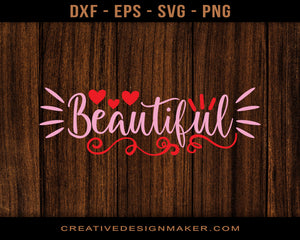 Beautiful Adventure T-shirt Svg Dxf Png Eps Design Printable Files!