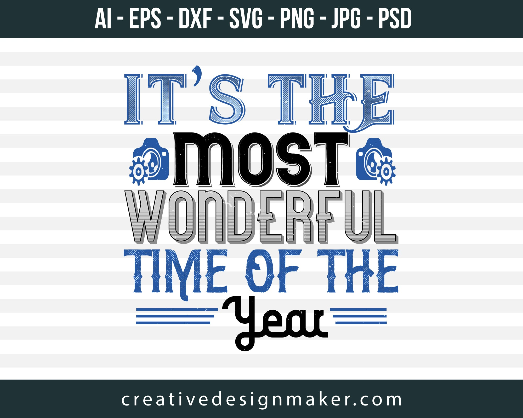 It's The Most Wonderful Time of The Year Football Print Ready Editable T-Shirt SVG Design!