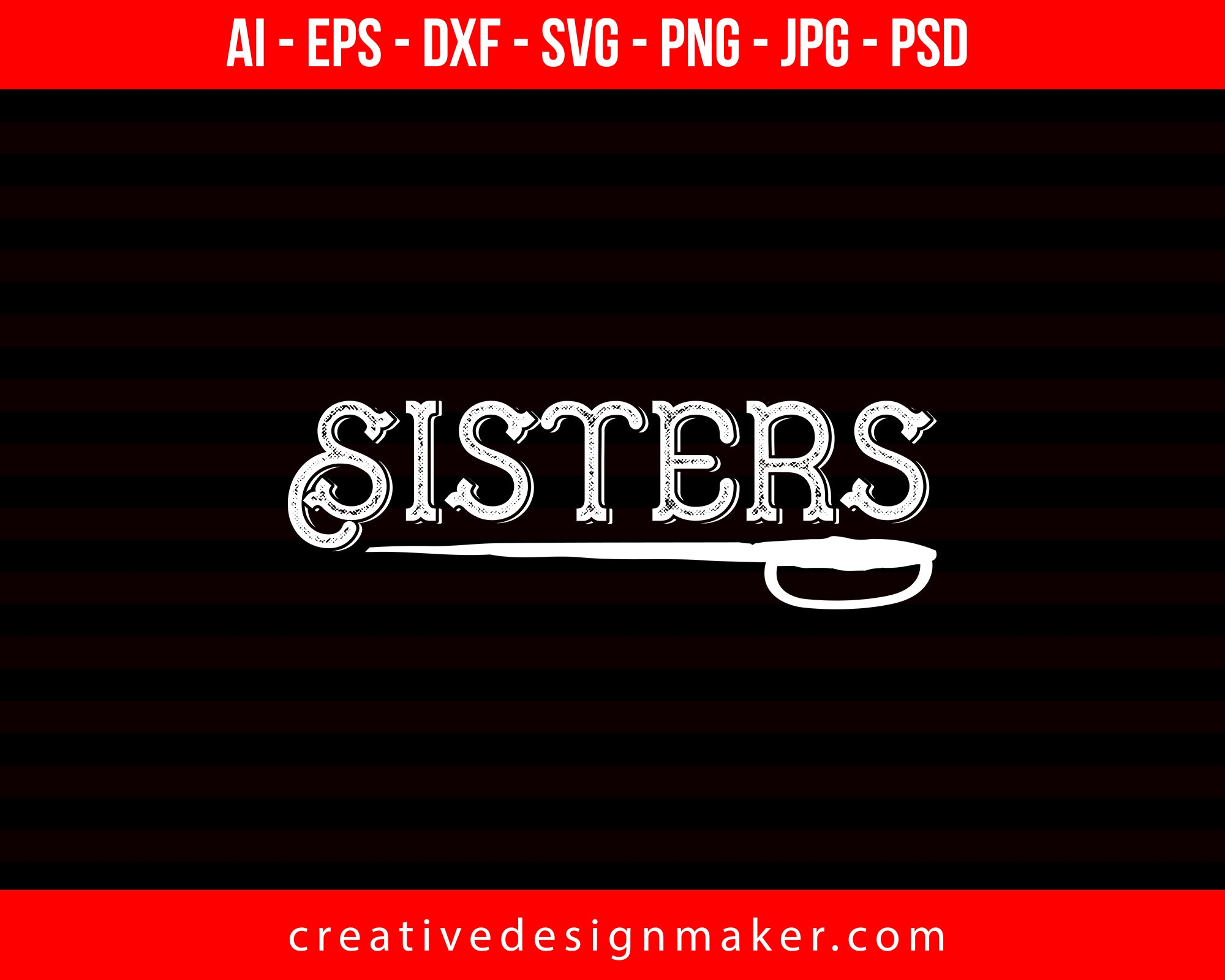 Sisters Couple Print Ready Editable T-Shirt SVG Design!