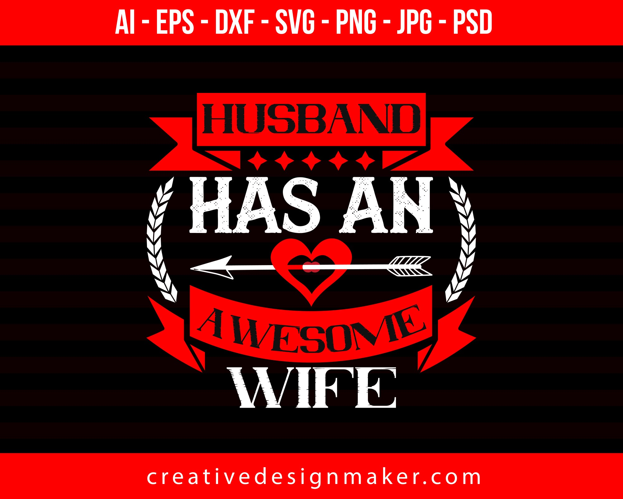 Husband Hasan Awesome Wife Couple Print Ready Editable T-Shirt SVG Design!