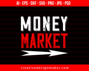 Money Market Couple Print Ready Editable T-Shirt SVG Design!