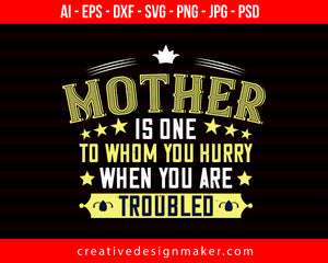 Mother Is One Mom Print Ready Editable T-Shirt SVG Design!