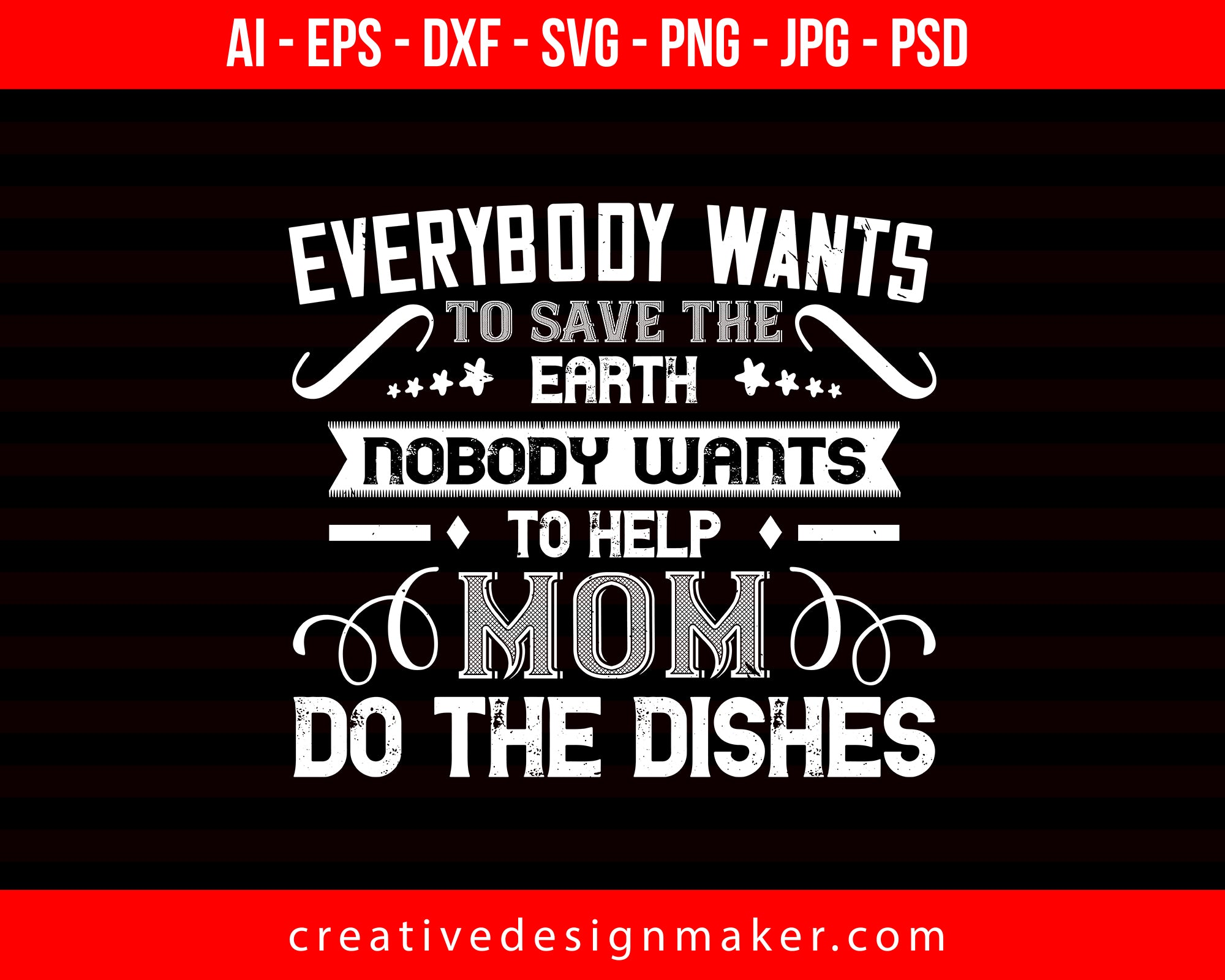 Everybody Wants Mom Print Ready Editable T-Shirt SVG Design!