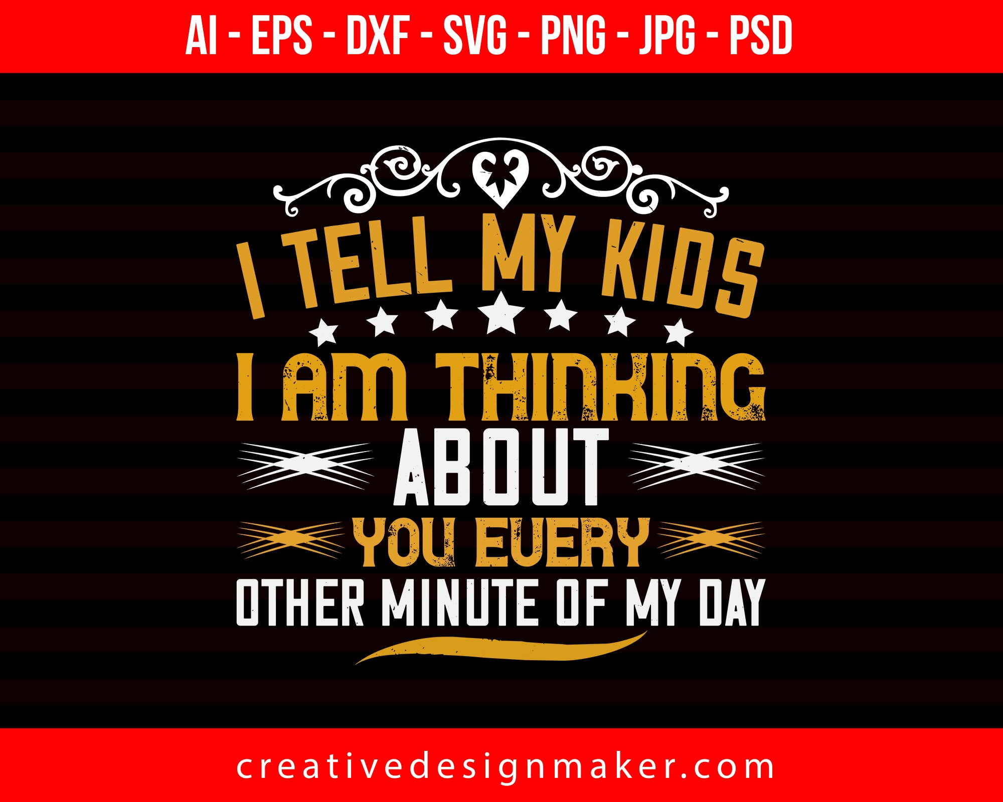 I Tell My Kids Mom Print Ready Editable T-Shirt SVG Design!