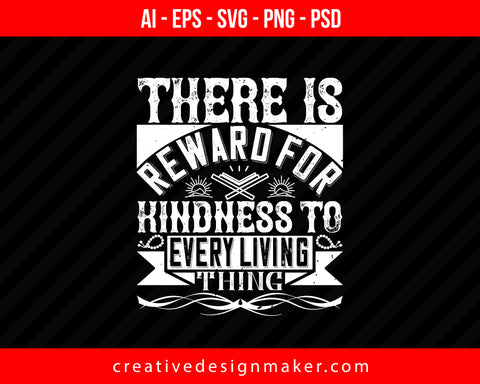 There is reward for Kindness to every living thing Islamic Print Ready Editable T-Shirt SVG Design!
