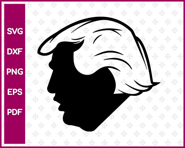Donald Trump svg file, President United States svg dxf png eps pdf, vector decal for cricut clipart, silhouette vinyl sticker monogram, shirt