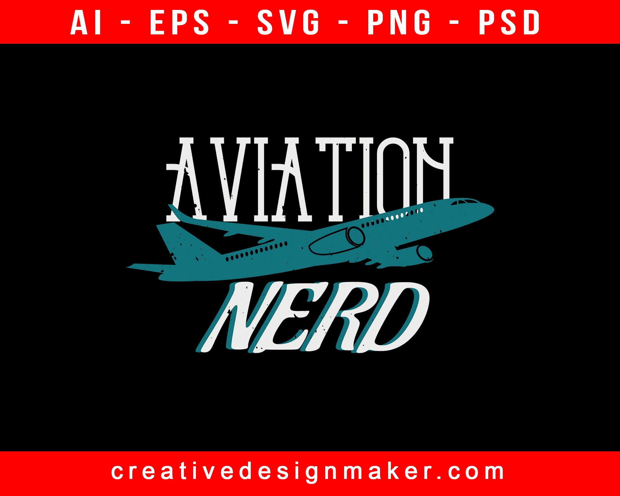 Aviation Nerd Print Ready Editable T-Shirt SVG Design!