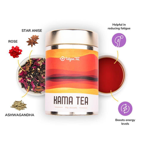 Udyan Tea - Kama Tea - 50 g | Black Tea, Ashwagandha (Indian Ginseng)