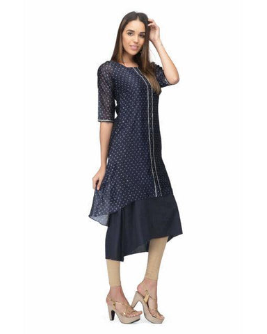 Get your style with this chanderi kurta dress.