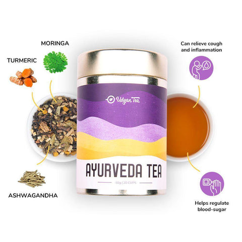 Udyan Tea - Ayurveda Tea - 50 g | Black Tea, Turmeric, Ginger