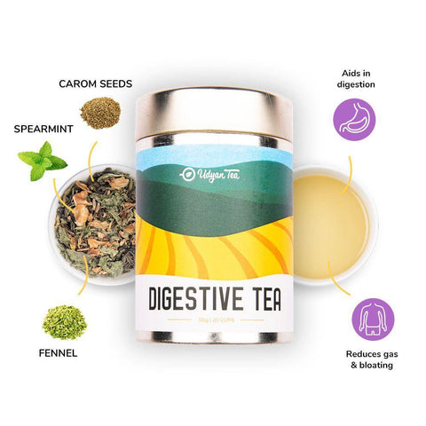 Udyan Tea - Digestive Tea - 50 g | Green Tea, Fennel, Spearmint, Lemon Peel