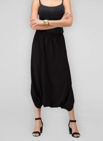 Cowl Pants- Black