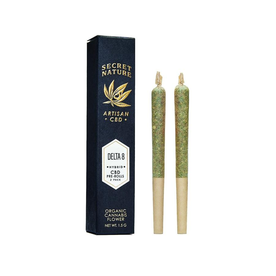Secret Nature Pre Rolls | Super Spectrum D8-THCV - 2 pack 1.5G Indica