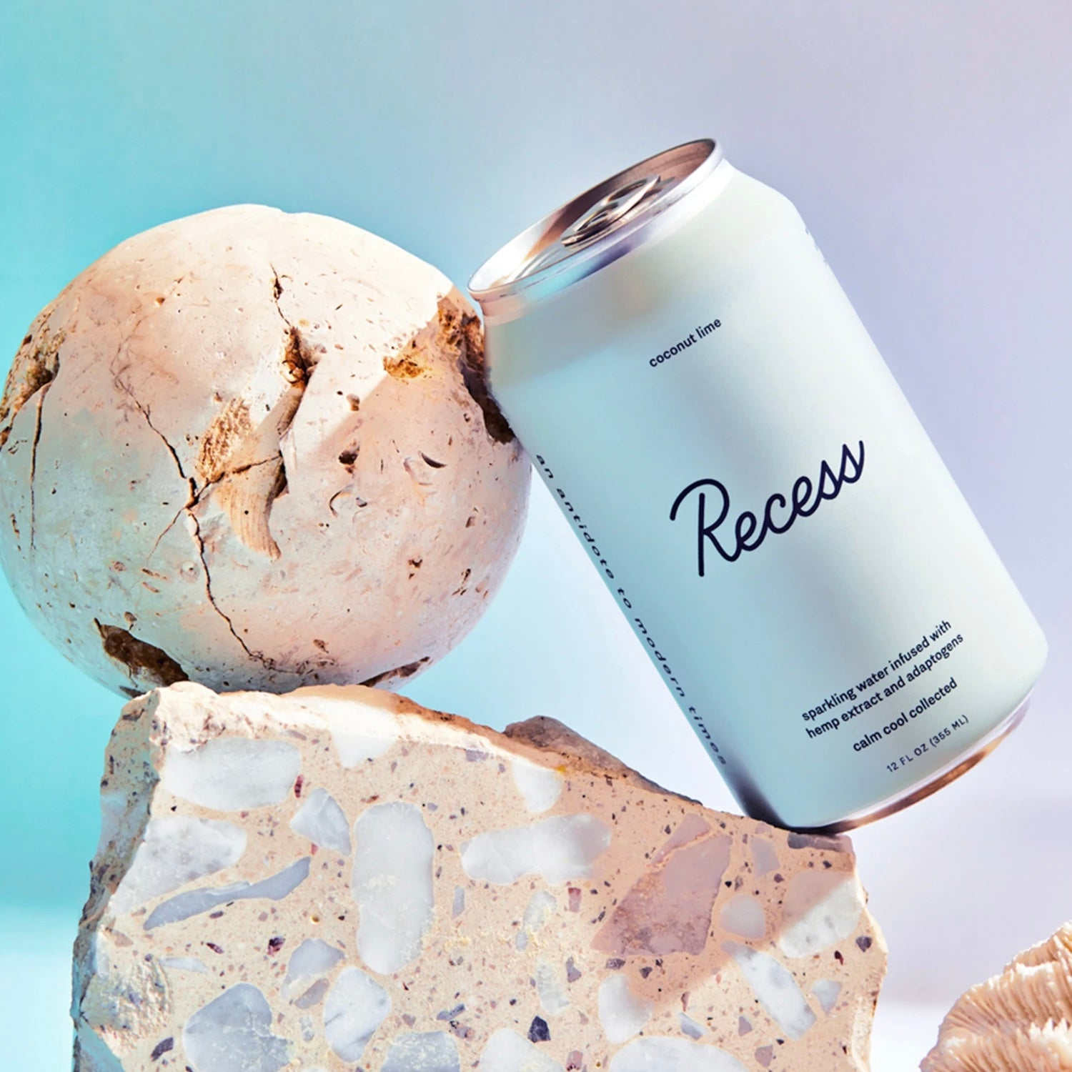 Recess Sparkling Water | Coconut Lime 10mg - Broad Spectrum CBD