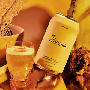 Recess Sparkling Water | Peach Ginger 10mg - Broad Spectrum CBD