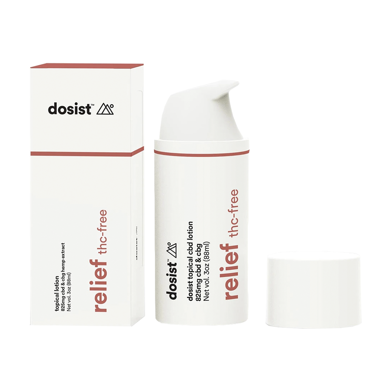 Dosist Topicals | Relief Lotion 825mg CBD:CBG - Isolate
