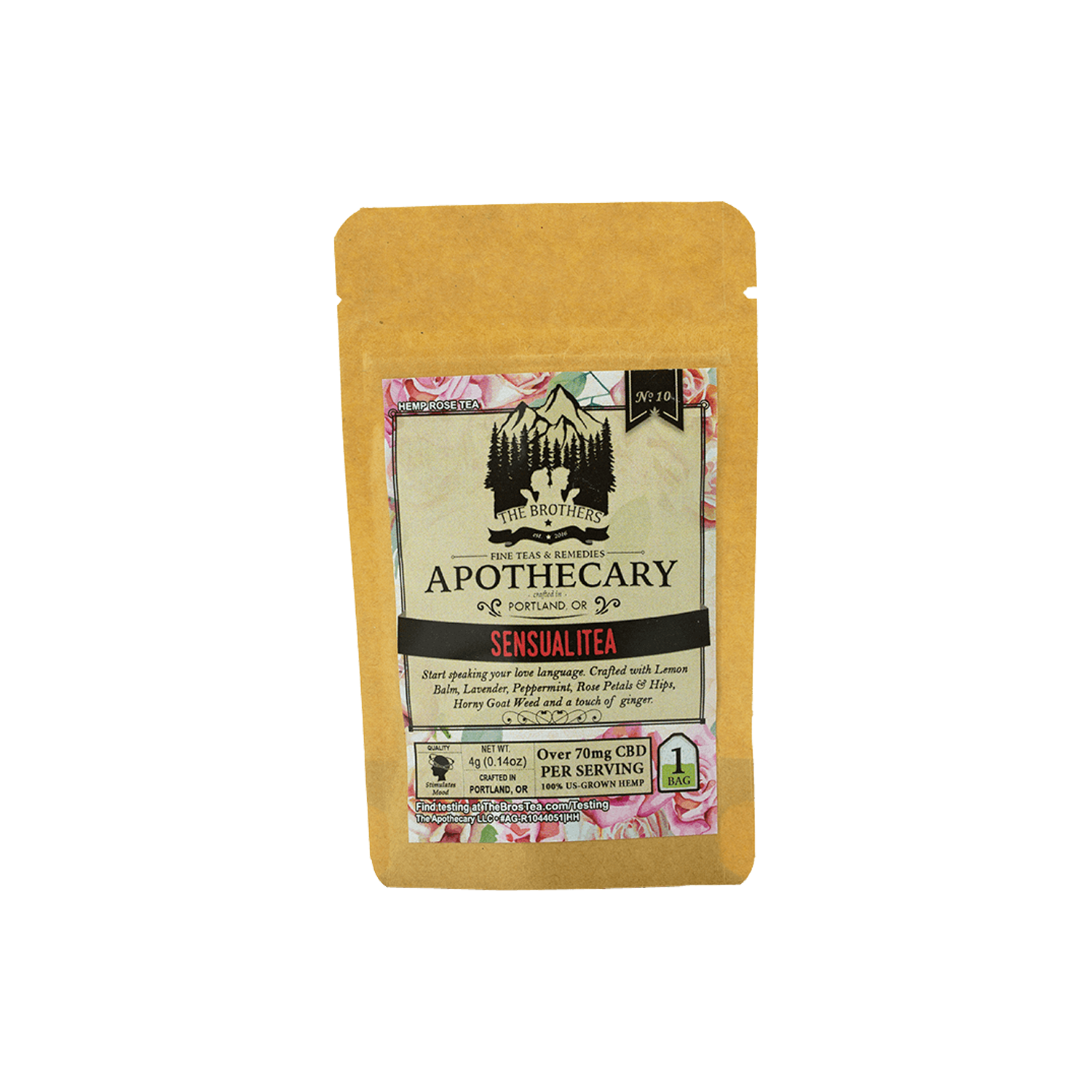 The Brothers Apothecary Tea Bags | Sensualitea - 60mg Full Spectrum CBD