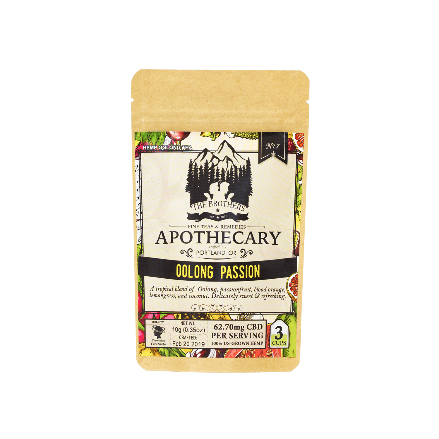 The Brothers Apothecary Tea | Oolong - 60mg Full Spectrum CBD
